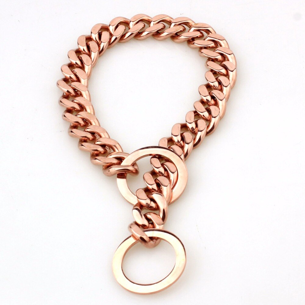 rose gold dog collar