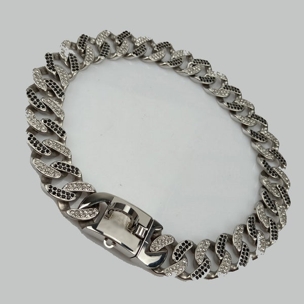 rhinestone cuban link dog collar