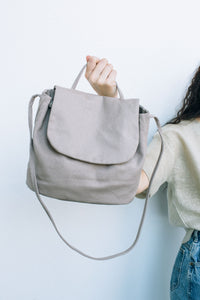 canvas shoulder bag - mushroom