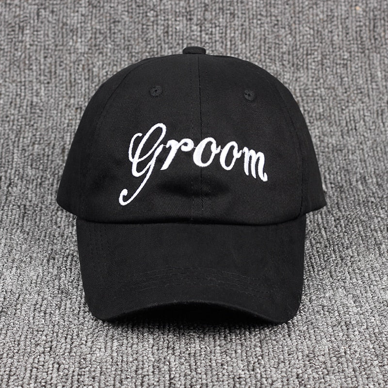 55b3b3e3 Groom Bride SQUAD dad hat - The Tiny Gifts