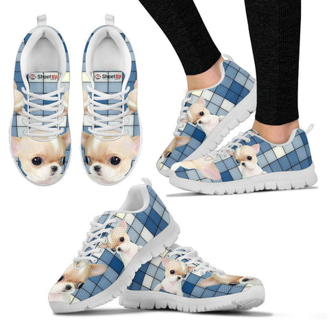 Chihuahua With 3D Blocks Print Running Shoes For Women-Free Shipping