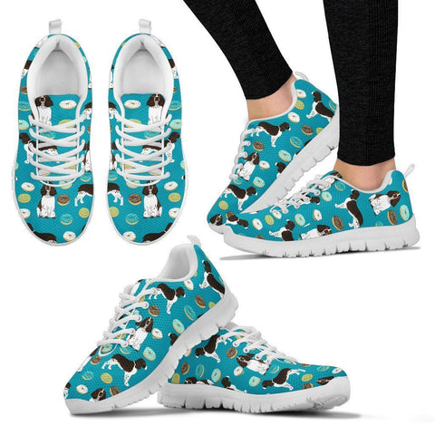 English Springer Spaniel Pattern Print Sneakers For Women- Express Shipping