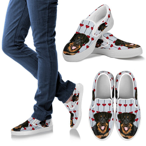 Valentine's Day Special-Rottweiler Print Slip Ons For Women-Free Shipping