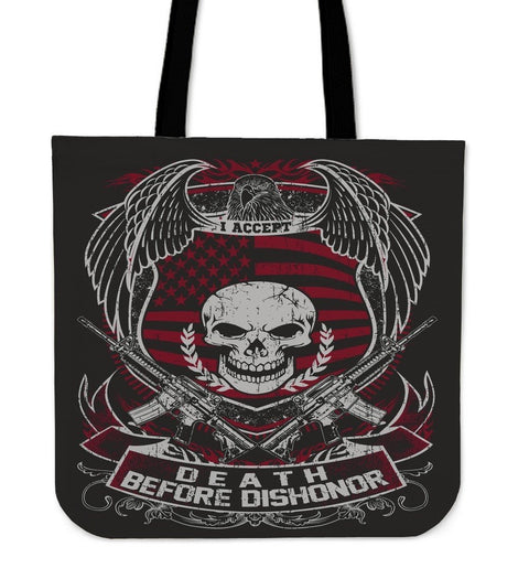Death Before Dishonor-Tote Bag-Free Shipping