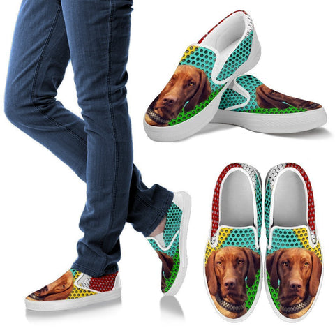 Awesome Vizsla Dog Print Slip Ons For Women-Free Shipping