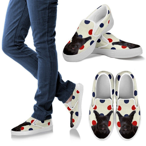 Skye Terrier Print Slip Ons For Women-Express Shipping