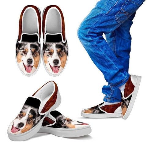 American Shepherd Print Slip Ons For Kids- Express Shipping