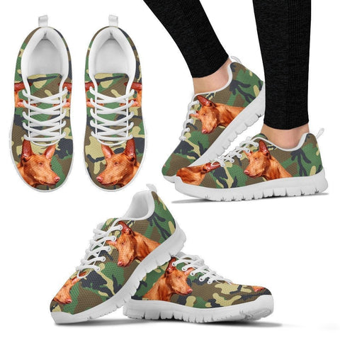 Pharaoh Hound Dog Print (Black/White) Running Shoes For Women-Express Shipping
