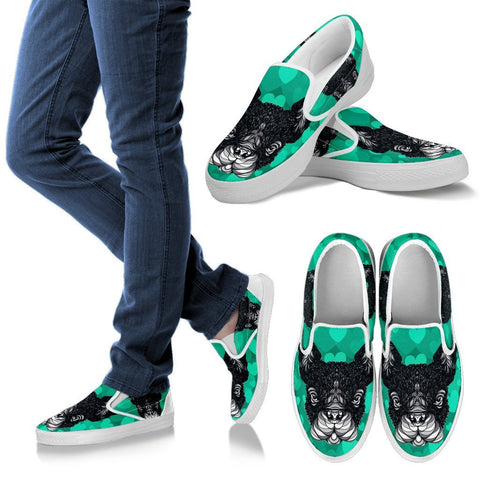 Valentine's Day Special-French Bulldog Print Slip Ons Shoes For Women-Free Shipping