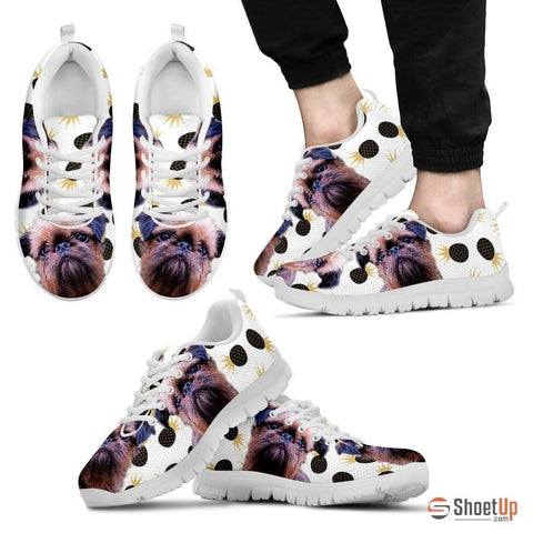 Customized(1914) Dog (White/Black) Running Shoes For Men-Free Shipping