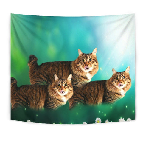 Cute American Bobtail Cat Print Tapestry-Free Shipping