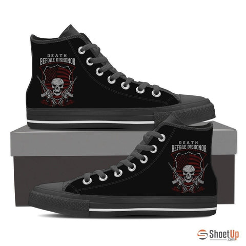 Death Before Dishonor-Women's Canvas Shoes-Free Shipping