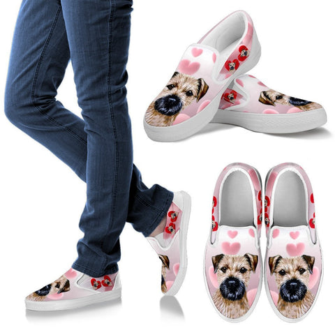 Valentine's Day Special-Border Terrier Print Slip Ons For Women Free Shipping