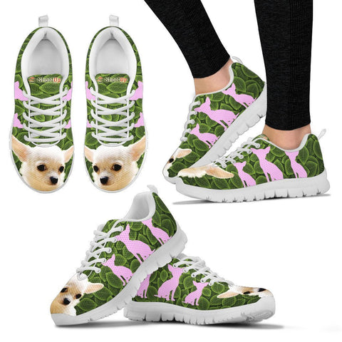 Chihuahua On Green-Women's Running Shoes-Free Shipping