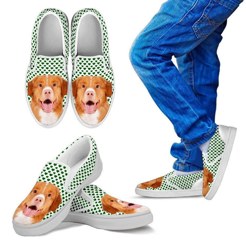 Nova Scotia Duck Tolling Retriever Print Slip Ons For Kids-Express Shipping