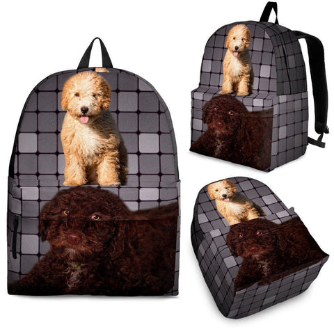 Spanish Water Dog Print Backpack-Express Shipping