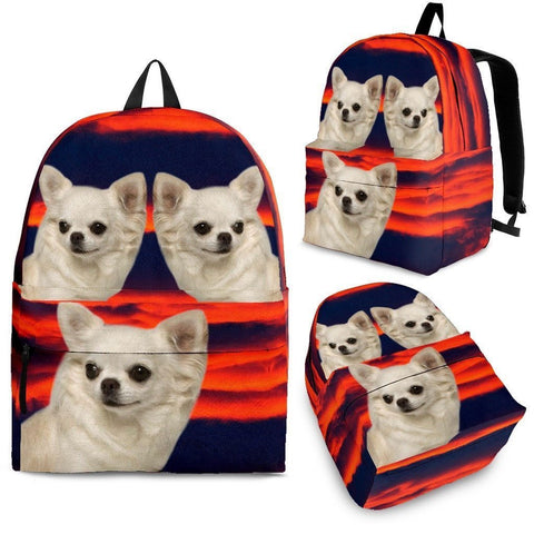 Chihuahua Print Backpack-Express Shipping