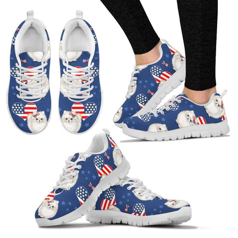 Pomeranian Pattern Print Sneakers For Women- Express Shipping