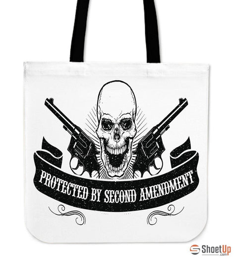 Protected By Second Amendment-Tote Bag-Free Shipping