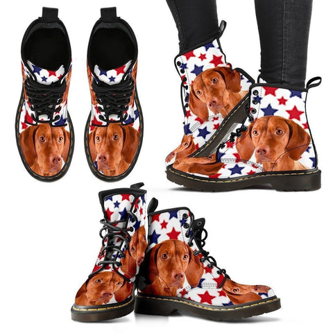 Vizsla Print Boots For Women-Express Shipping