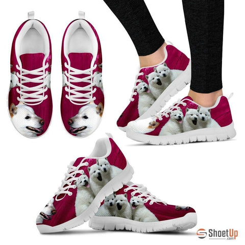 Hokkaido Dog Print (Black/White) Running Shoes For Women-Free Shipping