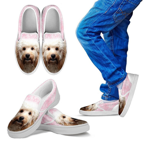 Cockapoo Print Slip Ons For Kids- Express Shipping