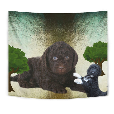 Barbet Dog Print Tapestry-Free Shipping