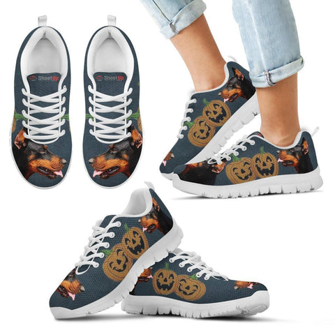 Doberman Pinscher Halloween Print Running Shoes For Kids/Women-Free Shipping