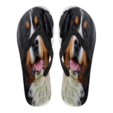 Bernese Mountain Flip Flops  For Men- Free Shipping