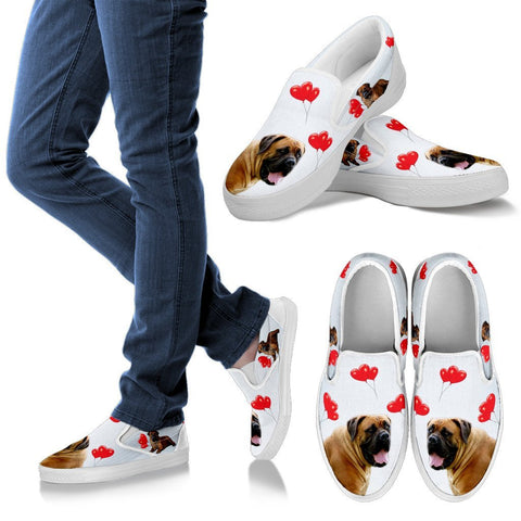 Valentine's Day Special-South African Boerboel Print Slip Ons For Women-Free Shipping