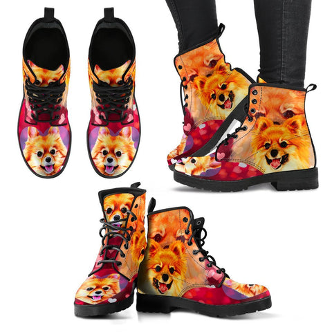 Valentine's Day Special-Pomeranian Dog Print Boots For Women-Free Shipping