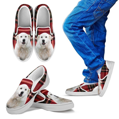 Kuvasz Dog Print Slip Ons For Kids-Express Shipping
