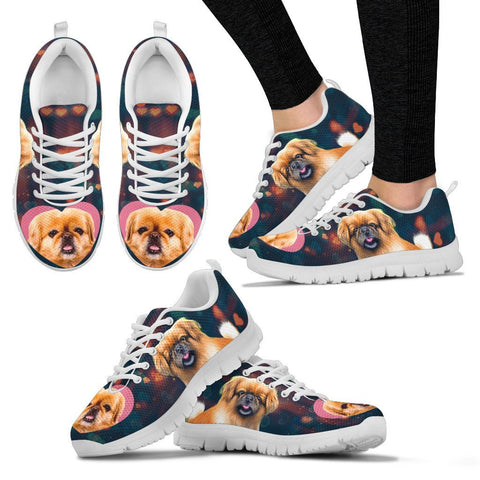 Valentine's Day Special-Pekingese Dog Print Running Shoes For Women-Free Shipping