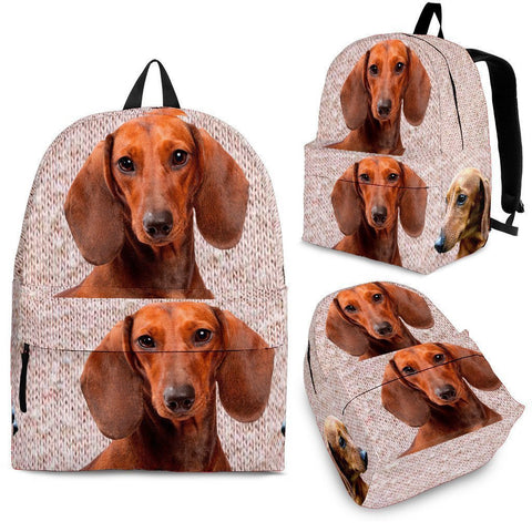 Dachshund Dog Print Backpack-Express Shipping