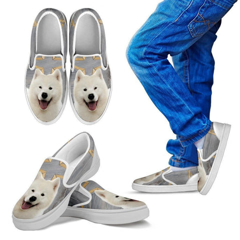 Samoyed Dog Print Slip Ons For Kids-Express Shipping