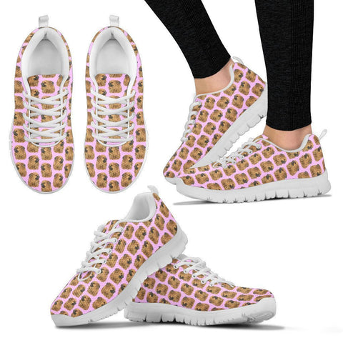Tibetan Spaniel Pattern Print Sneakers For Women- Express Shipping