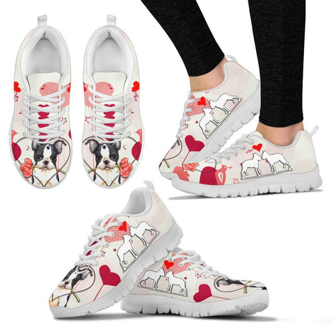 Valentine's Day Special Boston Terrier Print Running Shoes For Women- Free Shipping