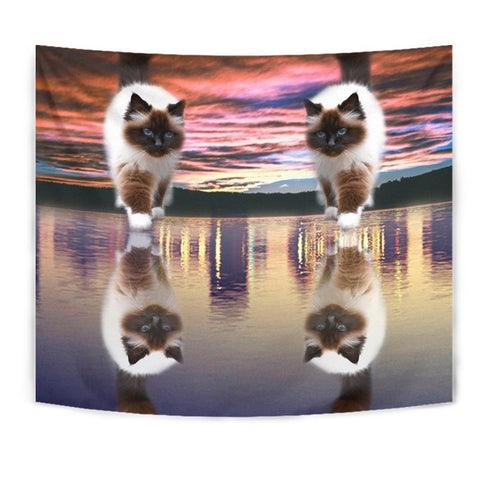 Amazing Himalayan Cat Print Tapestry-Free Shipping
