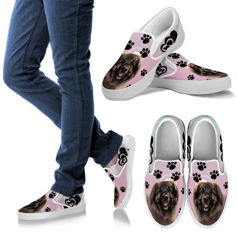 Valentine's Day Special-Leonberger Dog Print Slip Ons For Women-Free Shipping