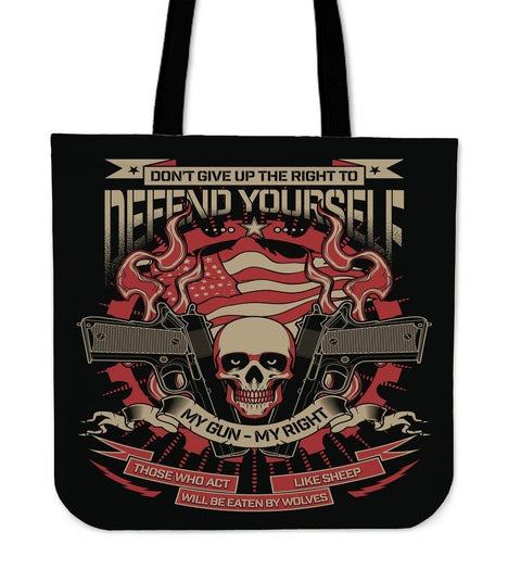 Defend Your Self-Tote Bag-Free Shipping