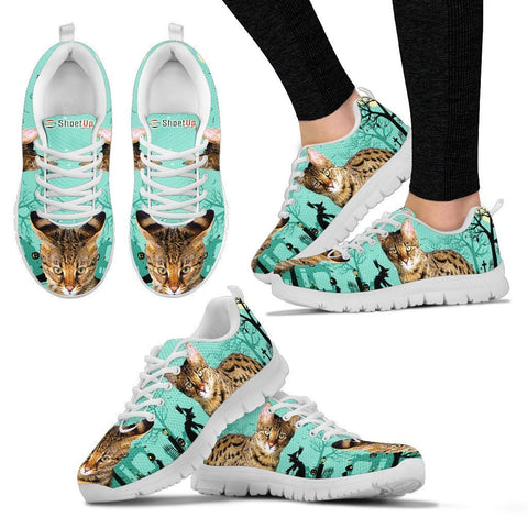Savannah Cat (Halloween) Print-Running Shoes For Women/Kids-Free Shipping