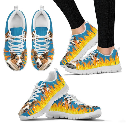 Cardigan Welsh Corgi Print Running Shoes For Women-Free Shipping