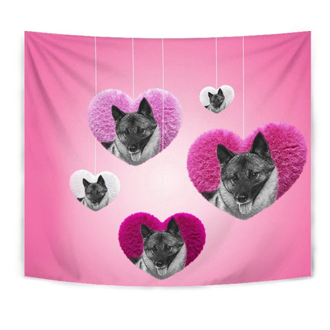 Norwegian Elkhound Dog Print Tapestry-Free Shipping