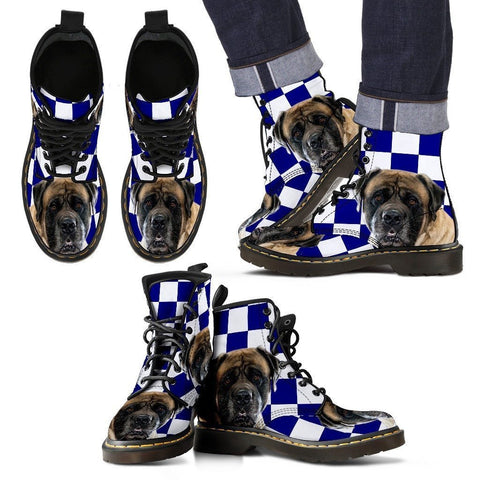 English Mastiff Print Boots For Men-Express Shipping