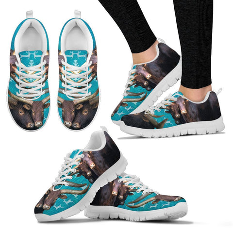 Ankole-Watusi Cattle Cow Christmas Running Shoes For Women- Free Shipping