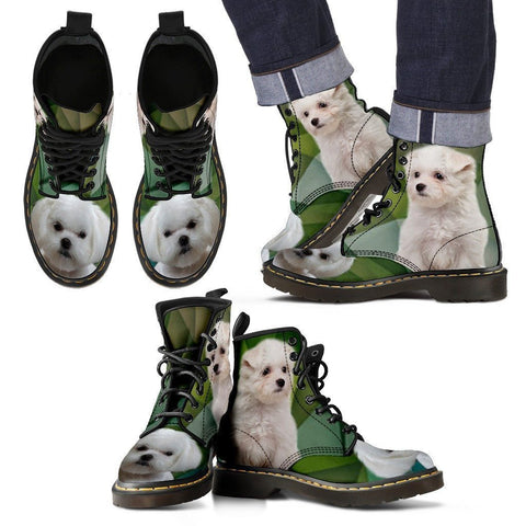 Maltese Print Boots For Men-Express Shipping