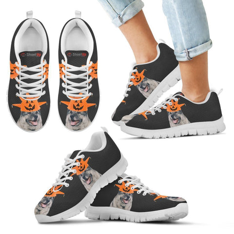Norwegian Elkhound Halloween Print Running Shoes For Kids/Women-Free Shipping