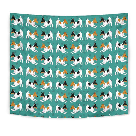 Toy Fox Terrier Dog Pattern Print Tapestry-Free Shipping