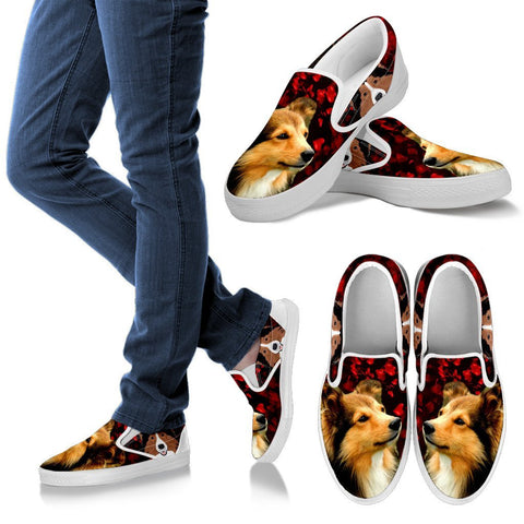 Valentine's Day Special-Shetland Sheepdog Print Slip Ons Shoes For Women-Free Shipping