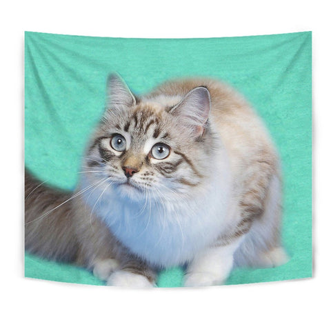Ragamuffin cat Print Tapestry-Free Shipping